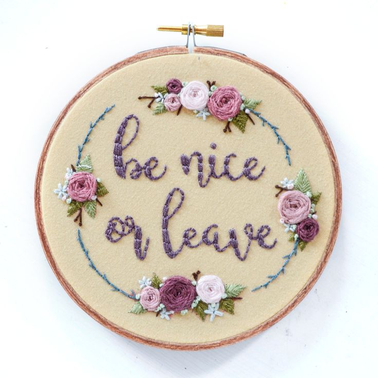 Be Nice or Leave - embroidery design