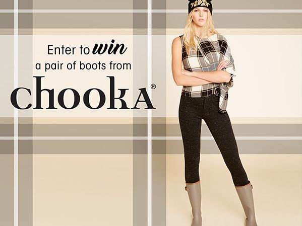Enter the Chooka Boots Sweepstakes for your chance to win a Pair of Chooka Boots!