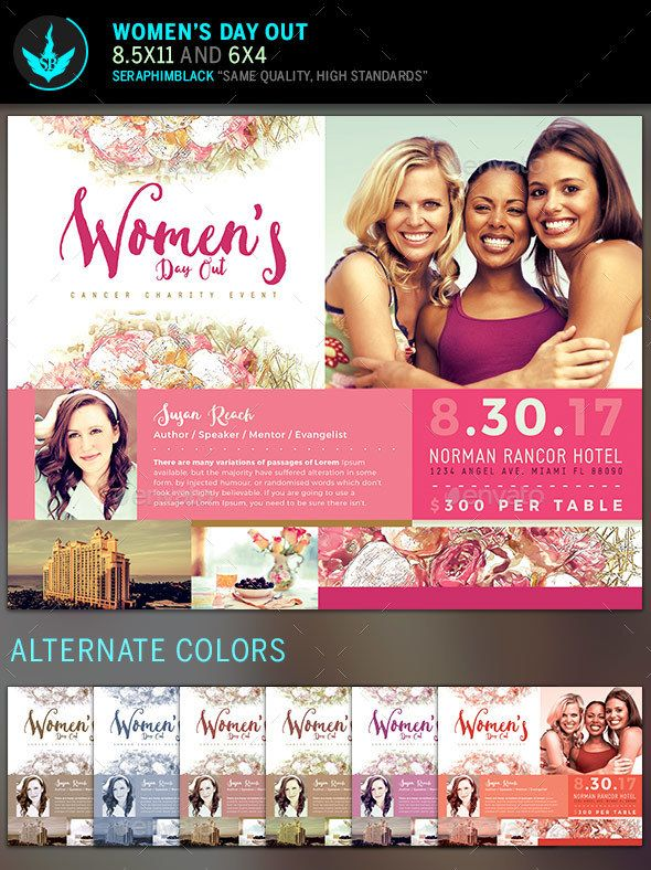women u0026 39 s day out flyer template