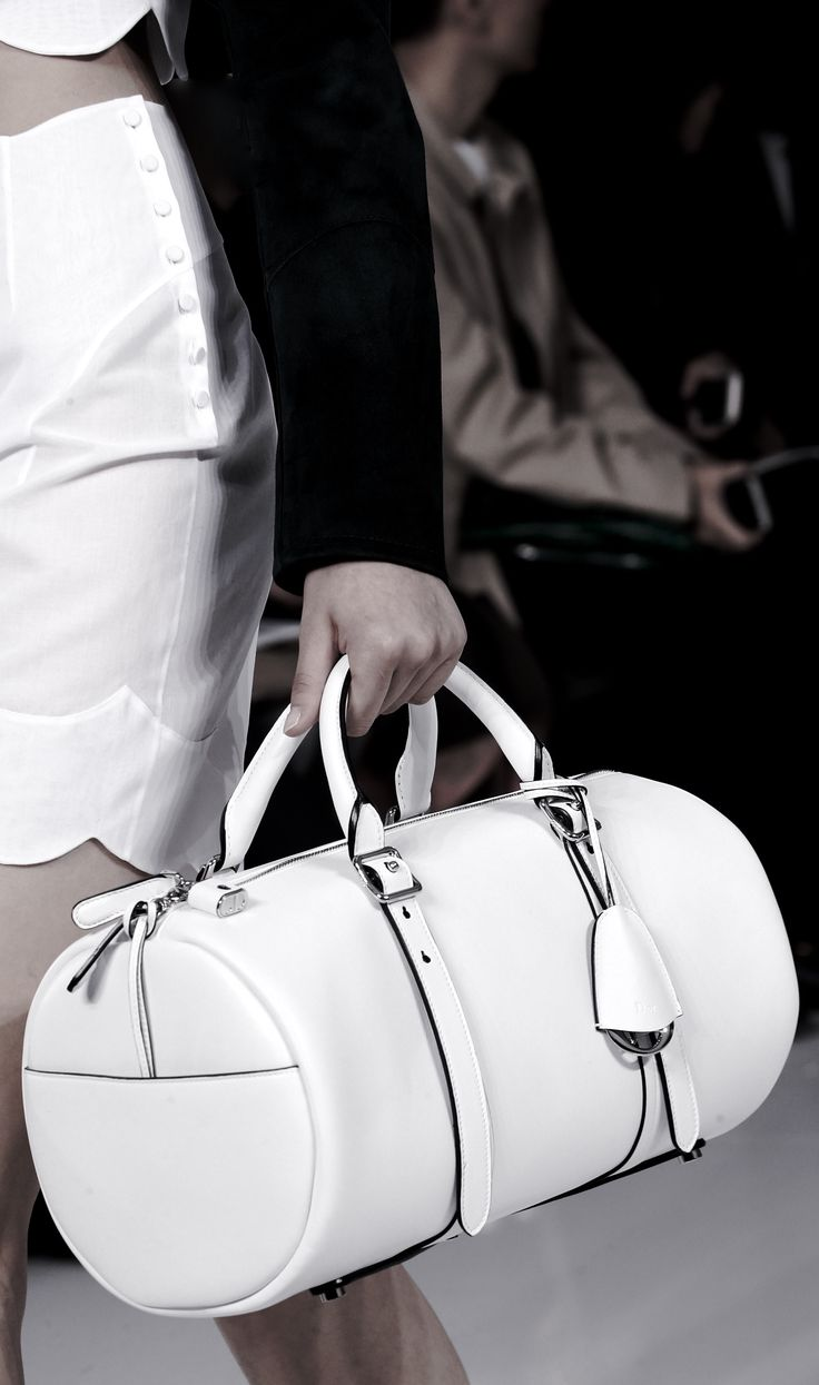 White barrel bag, chic minimal fashion details // Christian Dior Spring 2016