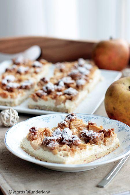 Apple Curd Streusel Cake