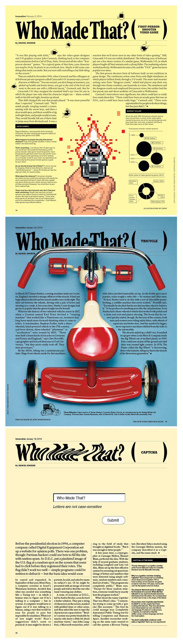The New York Times Magazine: Design Raul Aguila, Design Director Arem Duplessis #magazine #layout