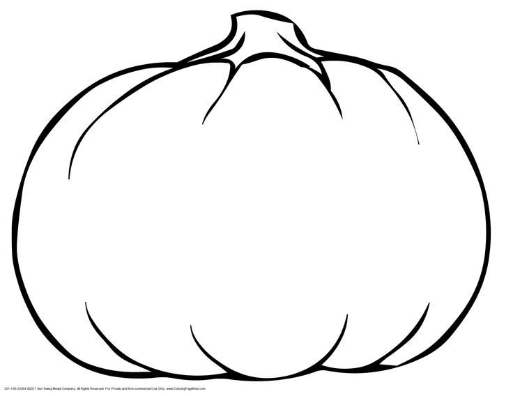 printable blank pumpkin coloring pages - photo#4
