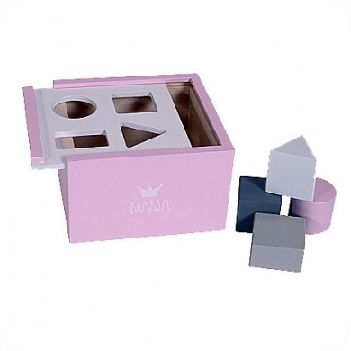 BabBam - Wooden Blocks Box Pink  - #poshprezzi