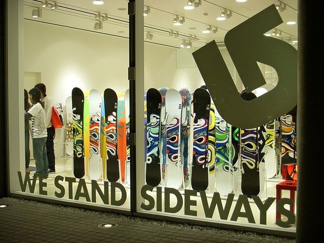 Burton snowboard store and their mantra
