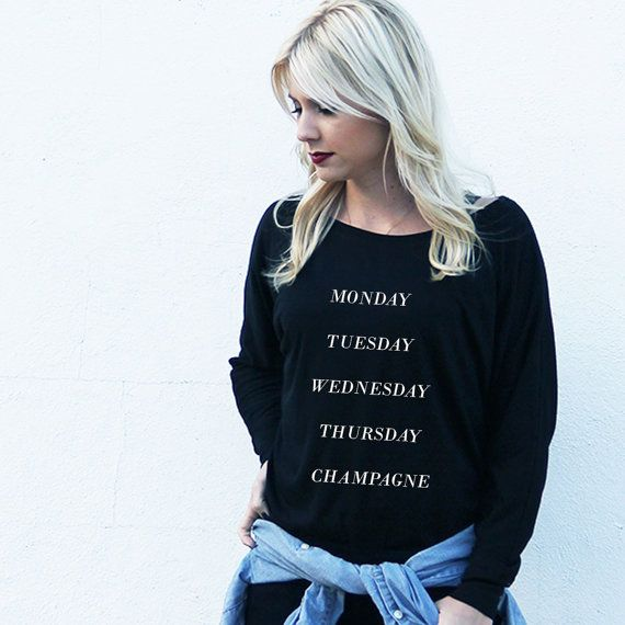 Monday Tuesday Wednesday Thursday Champagne Lightweight Sweater