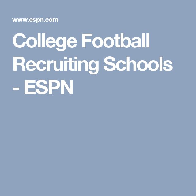 College Football Recruiting Schools - ESPN