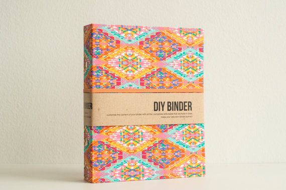Binder Planner 6x8 A5 sized 2-Ring Folder with 2 by NotbookNotbuk