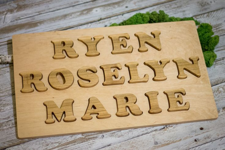 Excited to share the latest addition to my #etsy shop: Name Puzzle Custom 3 Lines | Personalized Wooden Toy | Boys Girls Unique 1st Anniversary Gift | Nephew Niece Present | Nursery Decoration