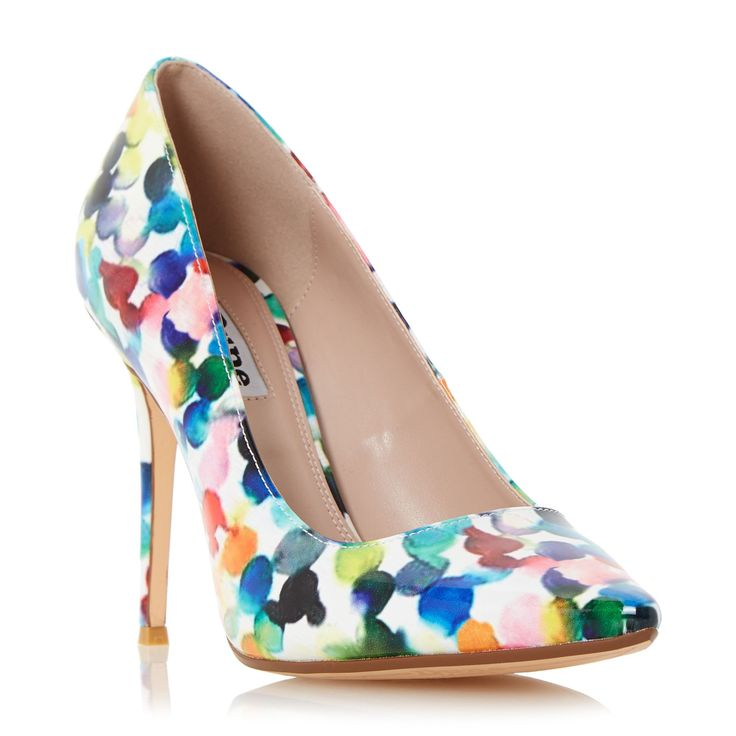Dune Blosome bubble print court shoes, Multi-Coloured