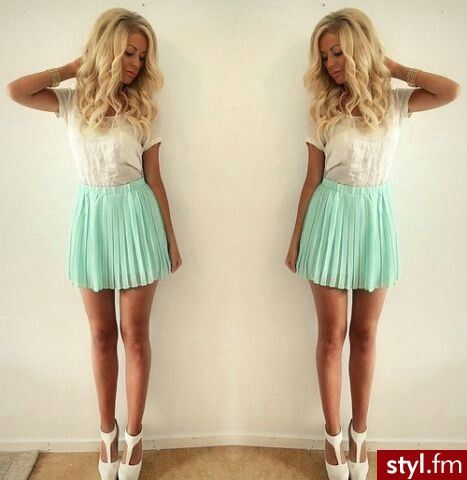 love that mint skirt