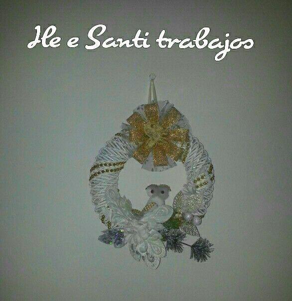 Ghirlanda Natalizia dorata by Santino Cossu e Ilenia Pintus