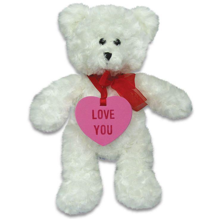 "V4072 - Wholesale Teddy Bears - 14"" Conversation Heart Bear"