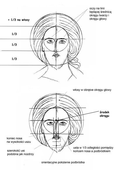 .PX drawing of facial proportions