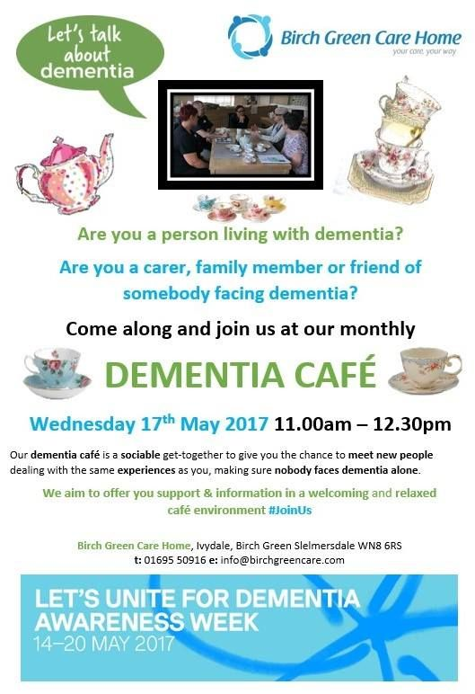 Café open for business to mark Dementia Awareness Week - Birch Green Care Home Skelmersdale