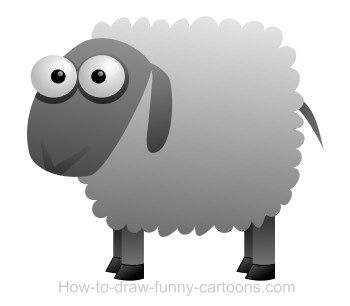 My favorite animal! A cartoon sheep!