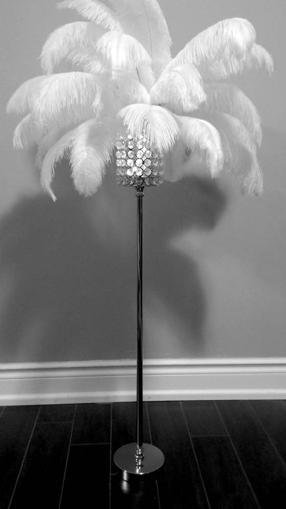 Go big with opulent, feather-adorned lighting. | 24 Ways To Decorate Like You're An Old Hollywood Star