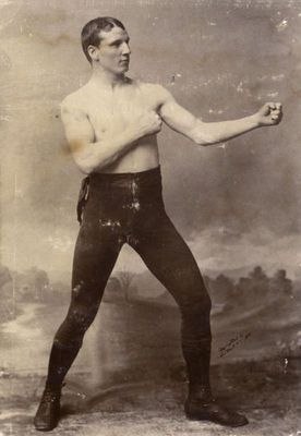 People in the 19th century did not wear boxing gloves. They fought with bare hands.