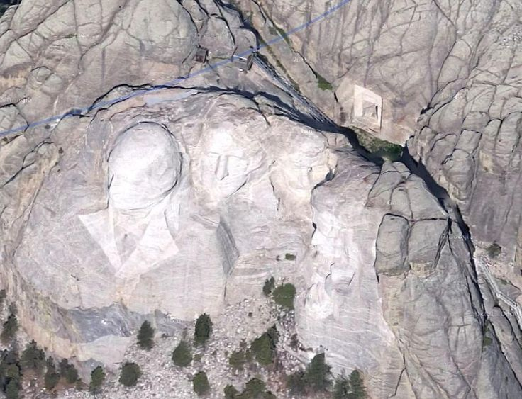 """Mount Rushmore located in the Black Hills of South Dakota, is one of America's best known landmarks. It's been featured in a number of films, including the mystery adventure movie, 2007's """"National Treasure: Book of Secrets.""""           But it seems that the famous mountain with the images of four presidents carved"""