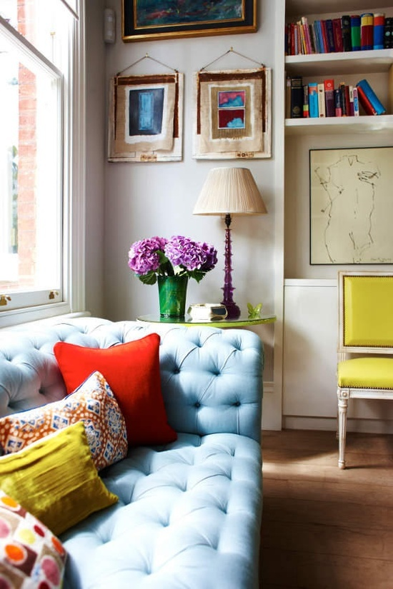 Baby-blue Chesterfield sofa? Sign us up.
