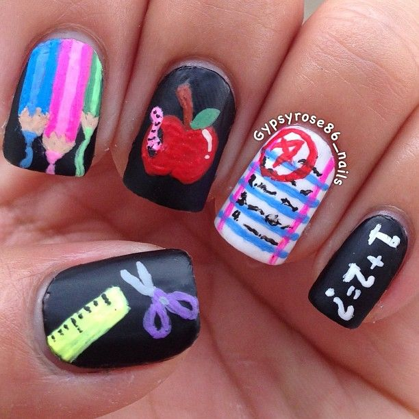 Back to School Nails - 58 Best Back To School Nail Designs Images On Pinterest Nail