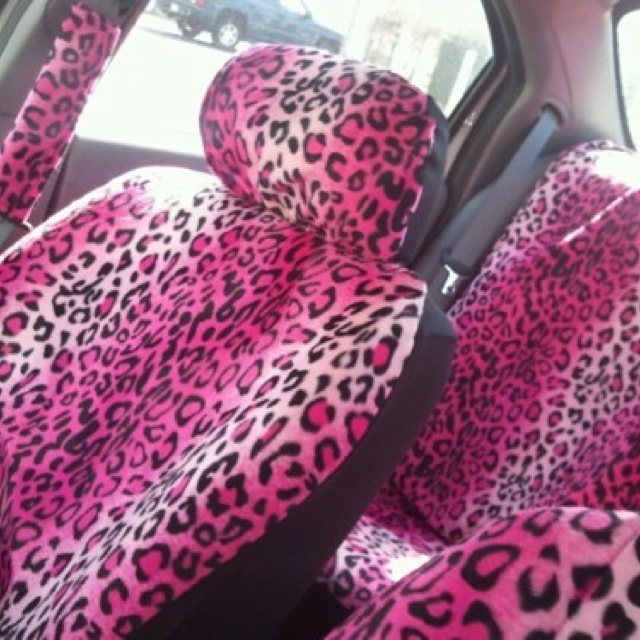 I Would Totally Rock The Pink Cheetah Seat Covers