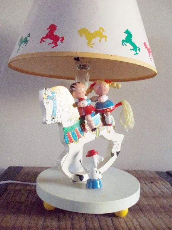 Vintage Nursery Originals Wind Up Musical Rocking Horse