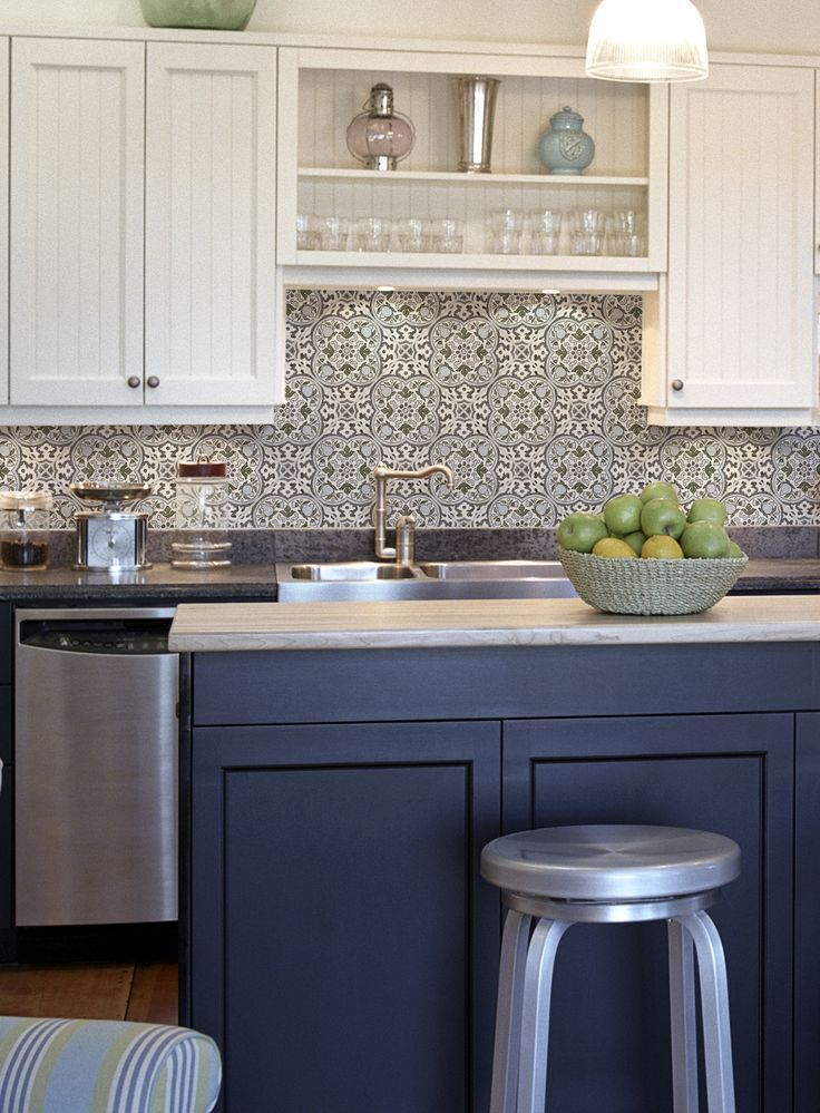 The Holland Pattern Is Truly A Unique Tile That Looks Stunning As A Kitchen Backsplash Or On Blue Backsplash Kitchen Kitchen Renovation Interior Design Kitchen