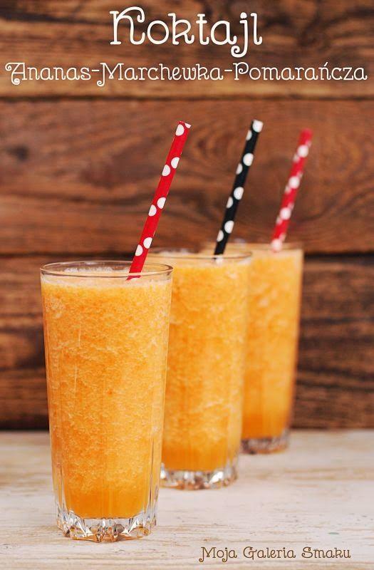 Koktajl ananas-marchewka-pomarańcza