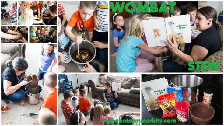 Wombat Stew Recipe - your kids will get to eat mud, feathers, flies & creepy crawlies with this yummy recipe! aka pudding, coconut, raisins & gummy worms.