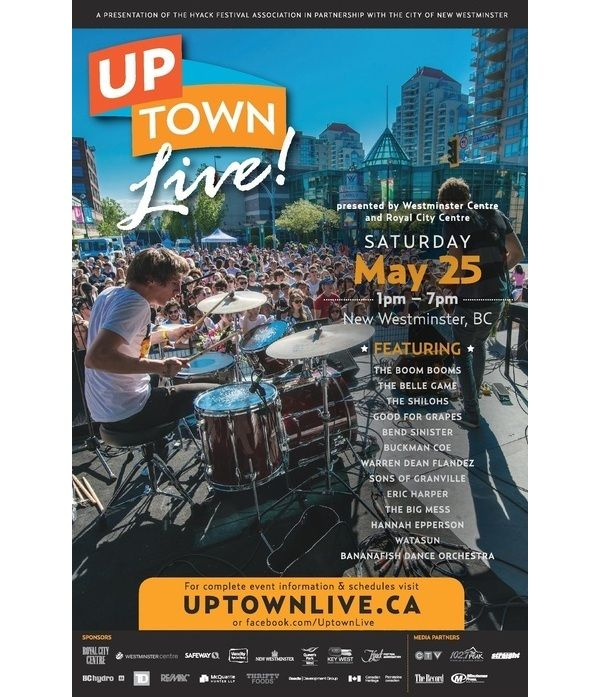 Westminster Centre & Royal City Centre presents UP TOWN LIVE!  http://www.showyougo.com/events/804