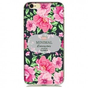 Carcasa Iphone 7, Protectie spate si laterale, Ultraslim, Silicon, Model floral
