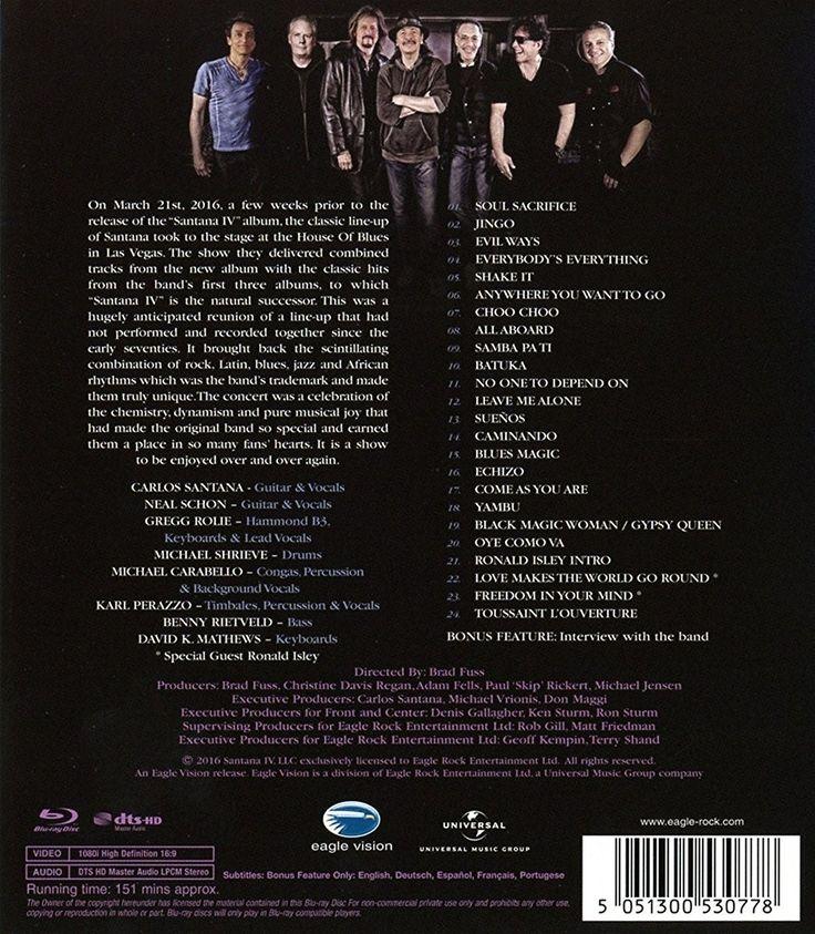 Santana IV - Live at The House of Blues, Las Vegas Blu-ray