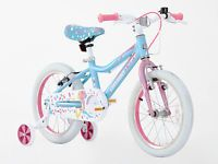 Greenway Girls 16 inch Alloy Bike with support wheel, hi spec,3-6 Years