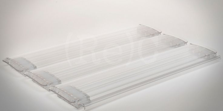 (Re)Cover® Polycarbonaat Totaal Transparante TRI-extrusie zwembad lamel
