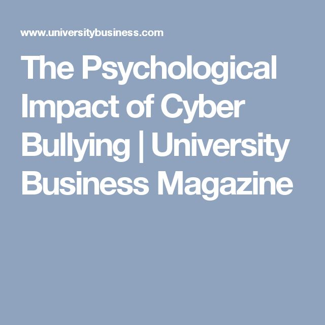bullying and mental health New york (reuters health) - a new study provides strong evidence that being bullied can cause children to develop depression and anxiety among identical twin pairs in which one experienced.
