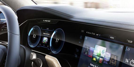 Интерьер концепта Фольксваген Т-Прайм / VW T-Prime ставший прототипом для внедорожника Volkswagen Touareg 2018 / Фольксваген Туарег 2018