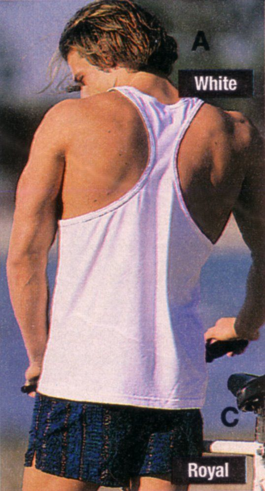 Brett Hollands for Sears Canada (Summer 1996) #BrettHollands #malemodel #malesupermodel #supermodel #model #Canadian #SearsCanada #FordModels #FordModels_Chi #NextModels #muscletank #tank #back #shoulders