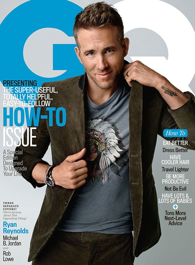 Male Fashion Trends: Ryan Reynolds y Rob Lowe en portada de GQ USA Octubre 2015