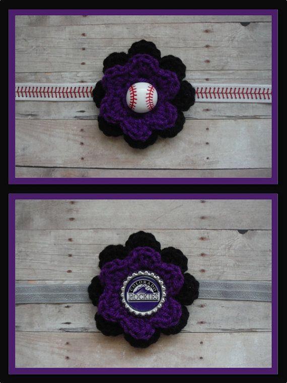 Colorado Rockies Baseball Headband Baseball by FrederickFancies