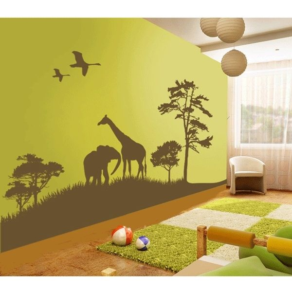 Best Nursery Ideas Images On Pinterest Baby Room Babies - Jungle themed nursery wall decals