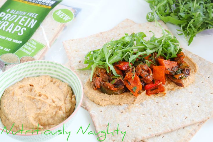 This healthy recipe for Paprika Veg with Za'atar Houmous and Newburn Bakehouse Gluten Free Protein Wraps is Coeliac friendly, vegan and full of flavour!