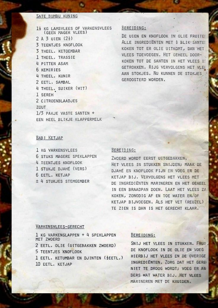 De aantekeningen van oma Tillie: saté en babi ketjap en meer.
