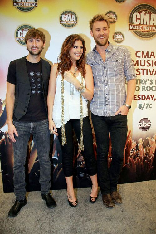 Lady Antebellum. LOOK AT DAVE! Such a cutie! (: