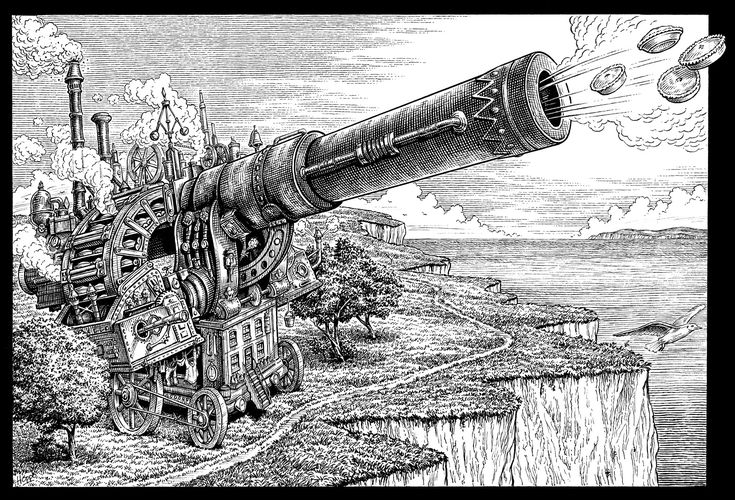 Pie Cannon by Dave Hopkins