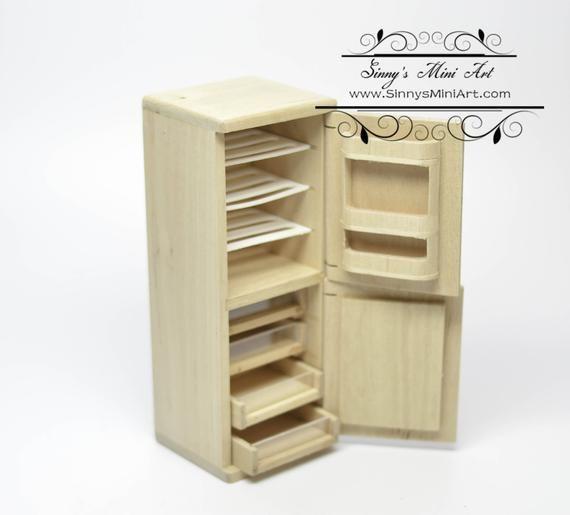 Unfinished Miniature Furniture Az Gw061, 1 12 Unfinished Dollhouse Furniture