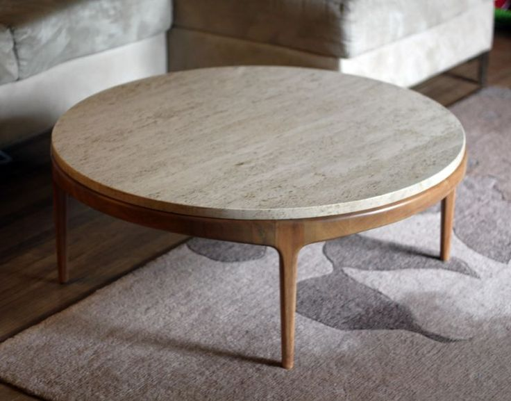 marble + retro + round... now thats a coffee table i can do!