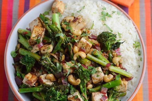 Levi Roots' Tenderstem, cashew and tofu stir fry recipe