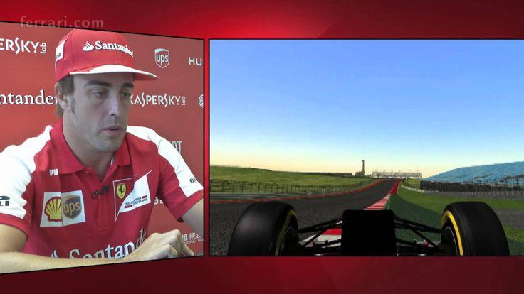 Und wieder einmal erklärt uns Formel 1 Fahrer Fernando Alonso einen Formel 1 Track - diesmal die neue Strecke in Austin, Texas!