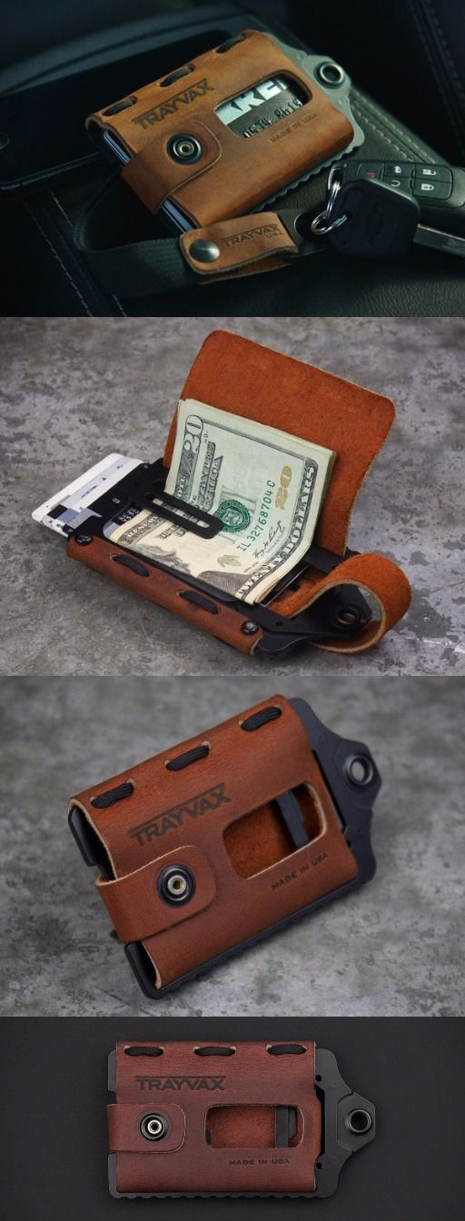 Trayvax Leather and Metal Minimal Wallet